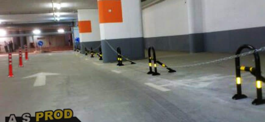 התקנת מחסום חניה מתקפל בבניין חדש