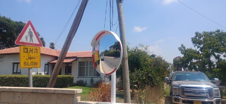 מראה פנורמית לכביש להגברת שדה הראיה